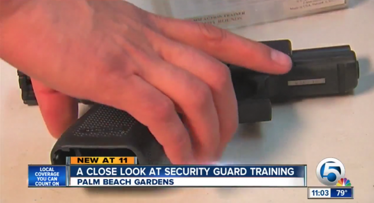 Armed security at palm beach mall shoots warning shots