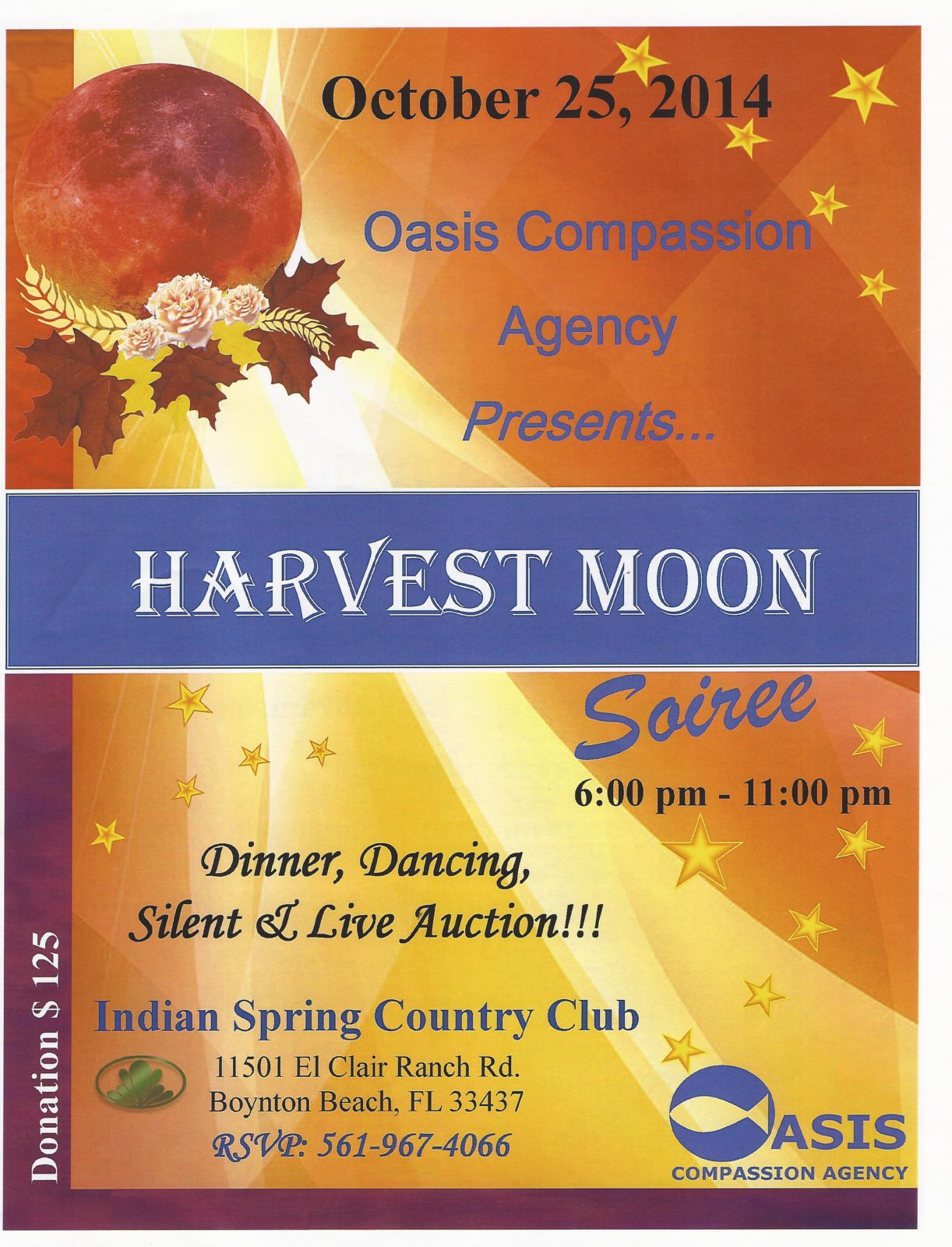 HARVEST MOON SOIREE – CHARITY DINNER EVENT