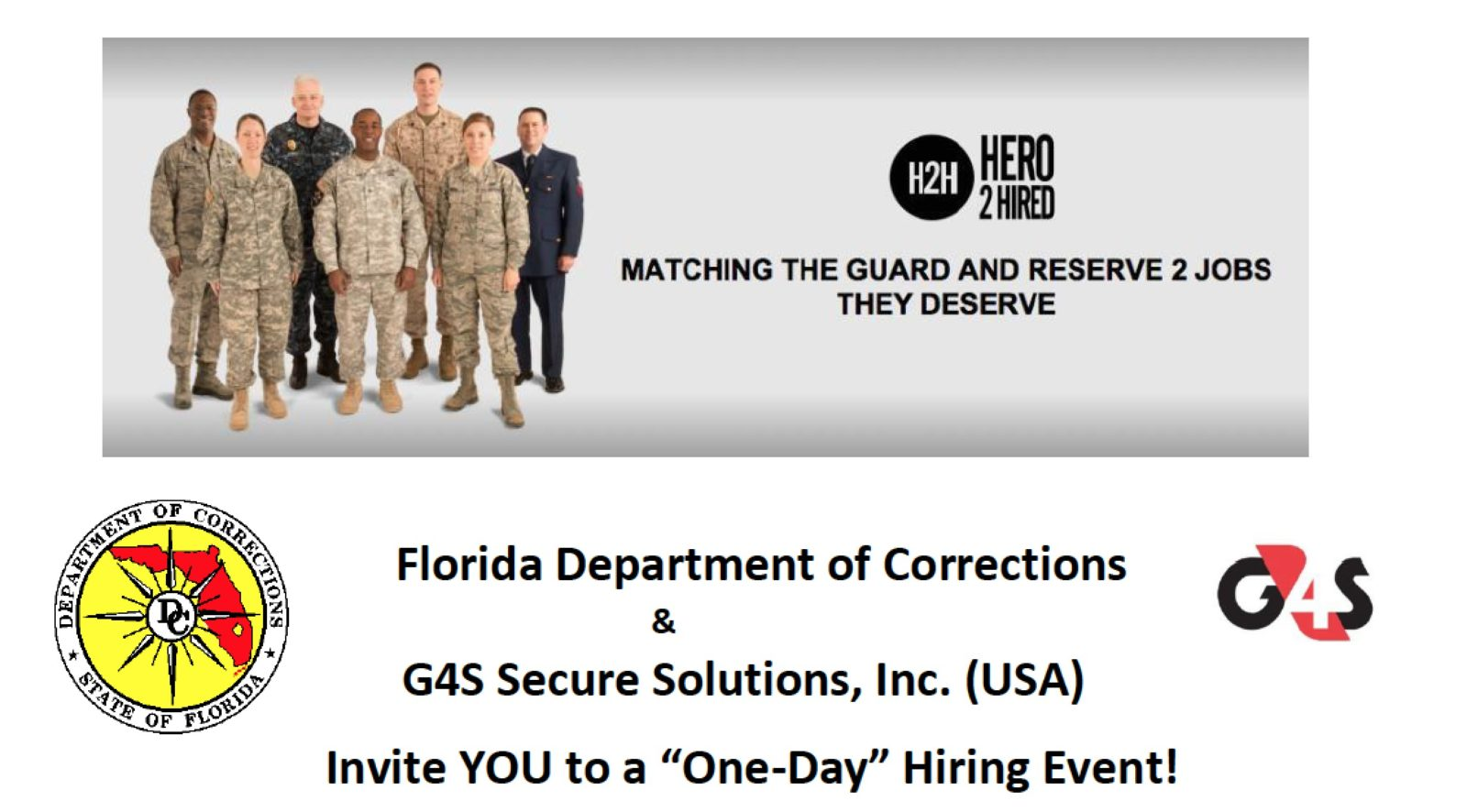 100's of IMMEDIATE JOB OPENINGS FOR STATEWIDE GUARD AND RESERVE MEMBERS THROUGHOUT FLORIDA