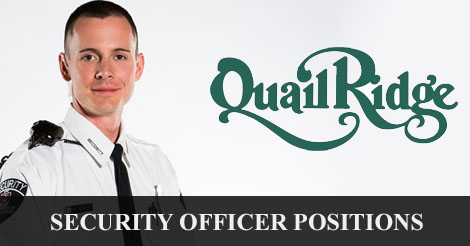 Security Job Alert: Armed Security Position Qual Ridge Country Club